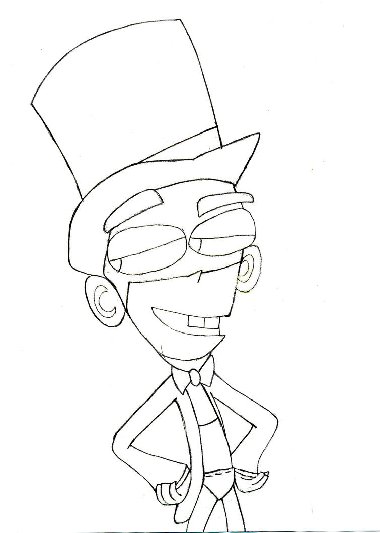 Fanboy elegante no color by dphantomgirl on deviantart for Fanboy and chum chum coloring pages