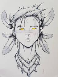 Shadowrun style Shaman Lady by Eppy