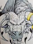 Tauren Warrior Sketch