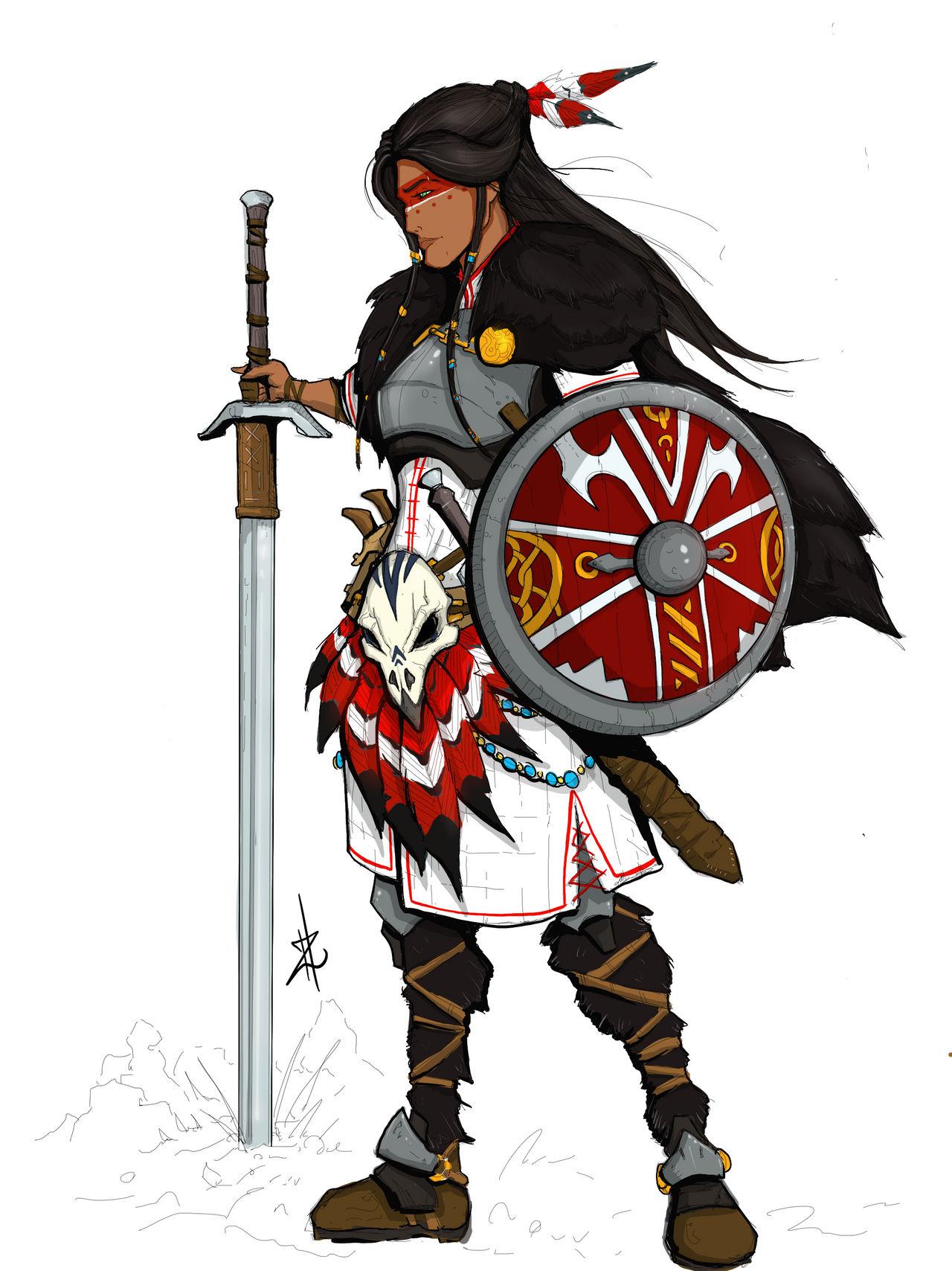 Norse-Native Warrior Woman