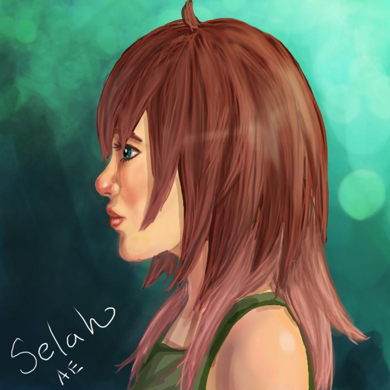 Selah's hair down. by l-Ataraxia-l