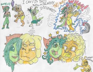 Tourmaline and Emerald stuck together