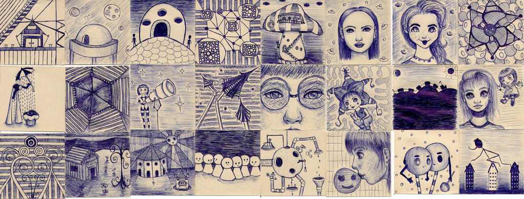 Mini scribbles by Luuusch