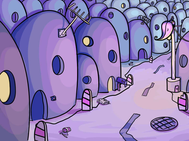A weird little town by Luuusch