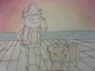Captain f'nuckles and flapjake by Levi-Woodal