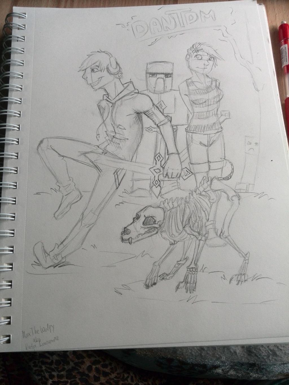 how to draw dantdm realistic
