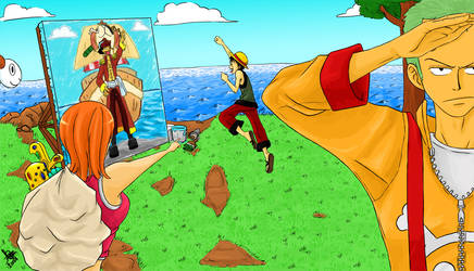 OnePiece-The Liar And The Ship by Sanogirl