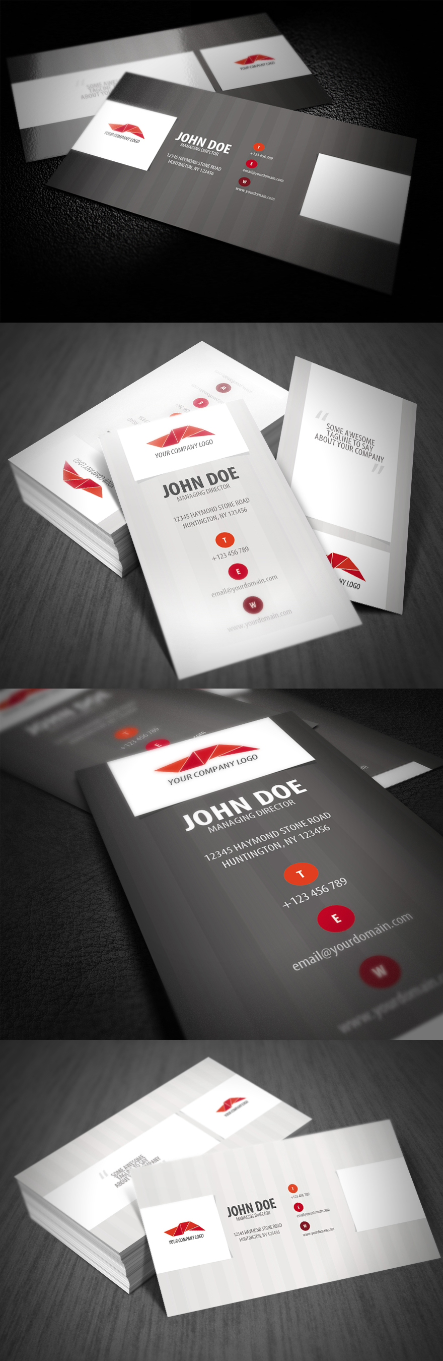 Stripe Style Business Card