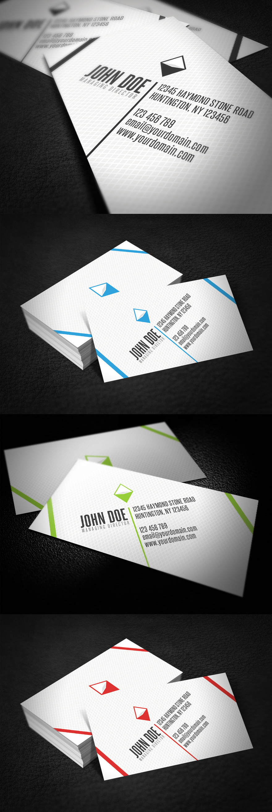 Diagonal Business Card