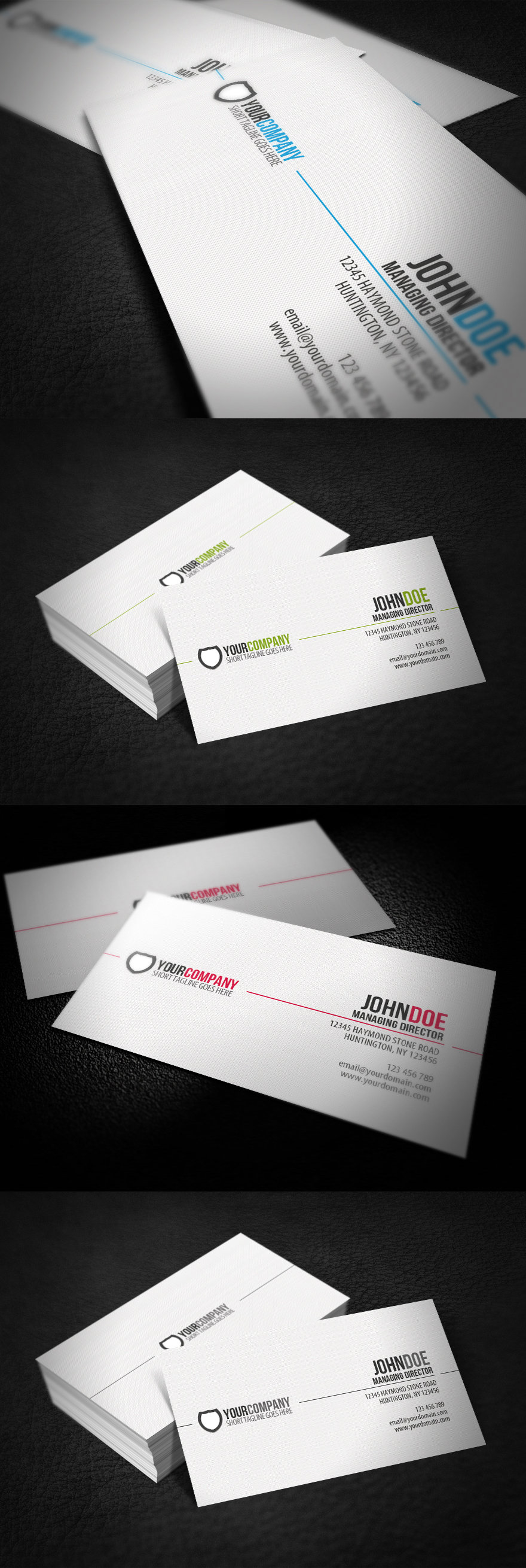 Simple Professional Business Card by glenngoh on DeviantArt