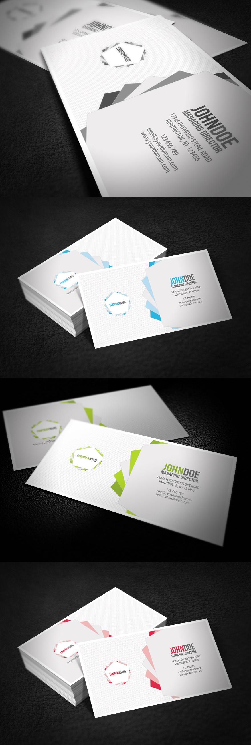 Clean Pentagon Business Card