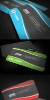 Sleek Rounded Corner Business Card
