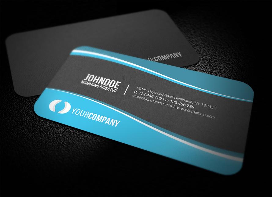 Sleek Rounded Corner Business Card by glenngoh on DeviantArt