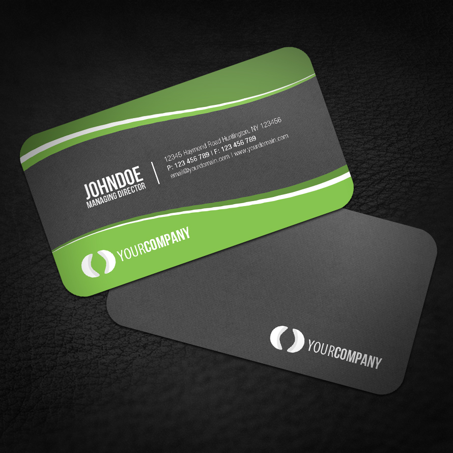 Sleek rounded corner business card by glenngoh on deviantart for Business card rounded corners