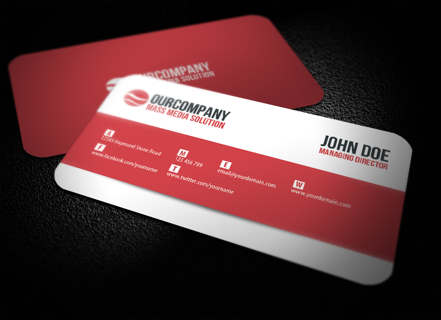 Modern Rounded Corner Business Card