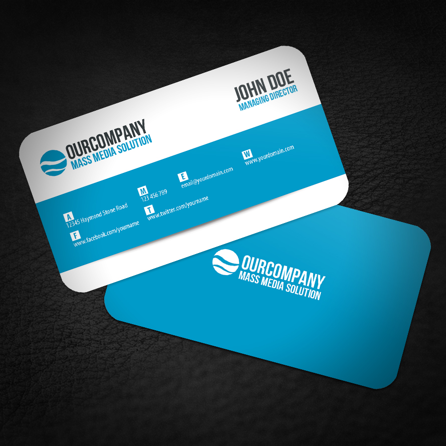 Modern Rounded Corner Business Card by glenngoh on DeviantArt