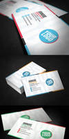 Clean Funky Business Card