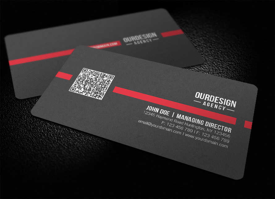 Business card with qr code boatremyeaton business card with qr code reheart Gallery