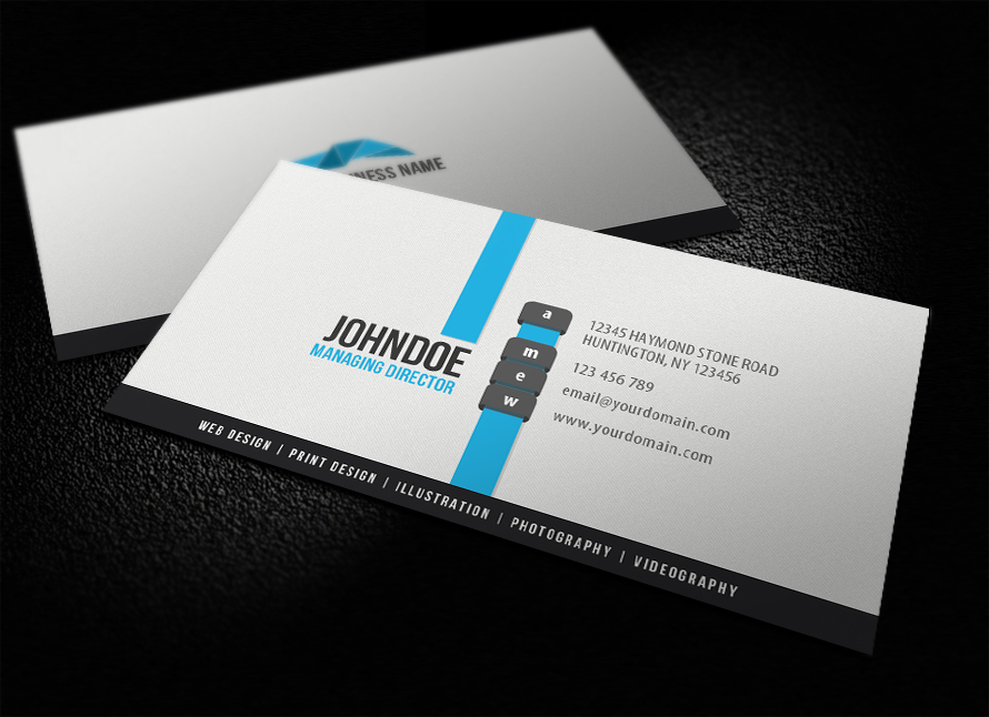 Clean Modern Business Card by glenngoh on DeviantArt