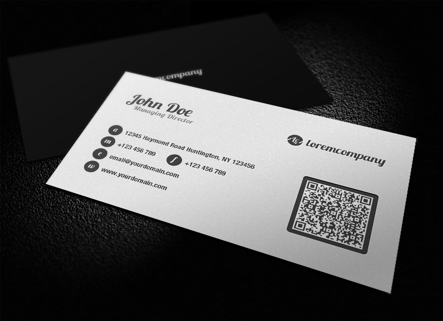 Clean qr code business card by glenngoh on deviantart clean qr code business card by glenngoh colourmoves Images
