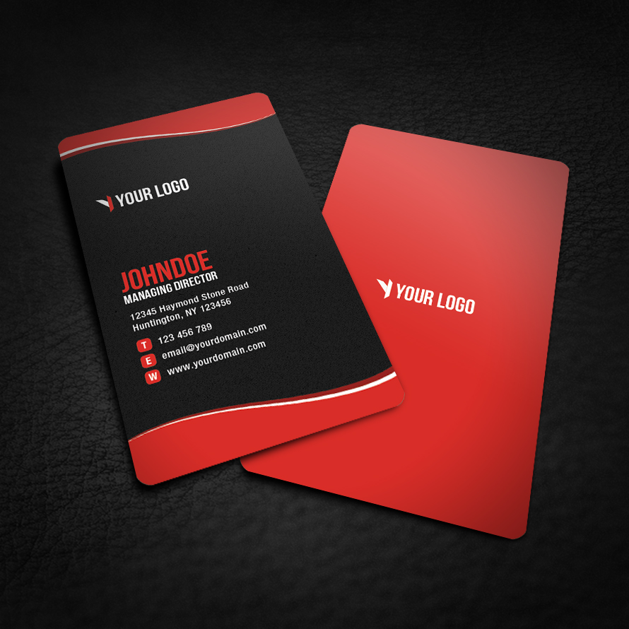Sleek Rounded Corner Business Card V2 by glenngoh on DeviantArt