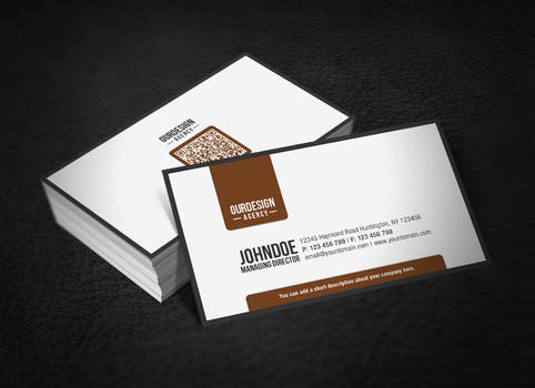 Clean Professional QR Code Business Card