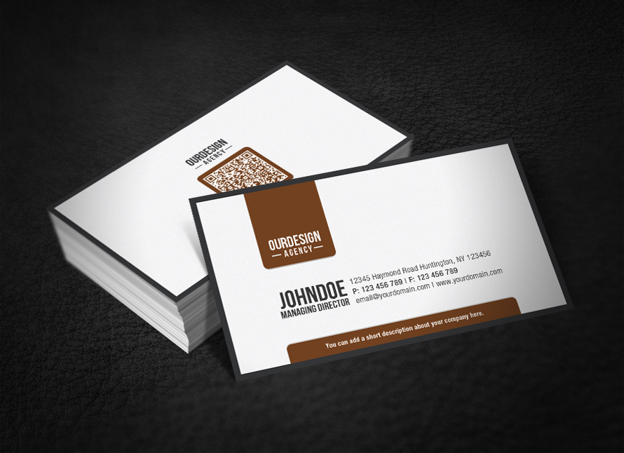 Clean Professional QR Code Business Card by glenngoh