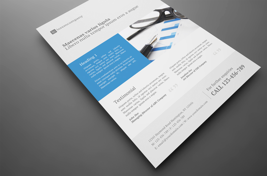 Clean Professional Corporate Flyer by glenngoh on DeviantArt – Professional Corporate Flyer