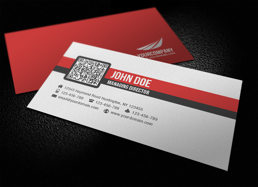 Simple Corporate QR Code Business Card