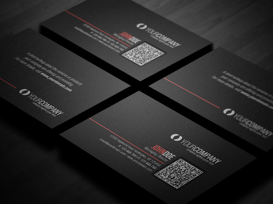 Corporate qr code business card v2 by glenngoh on deviantart for Create qr code business card