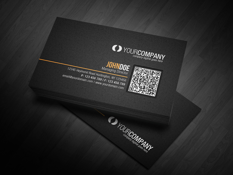 Corporate QR Code Business Card V2 by glenngoh on DeviantArt