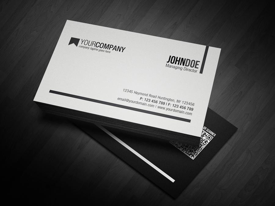 Minimal QR Code Business Card