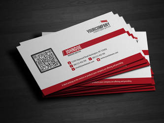 Corporate QR Code Business Card V3
