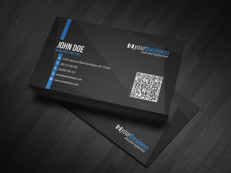 Corporate QR Code Business Card V4 by glenngoh on DeviantArt