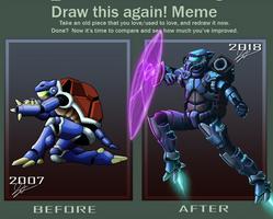 Draw this again: Blastoise V2