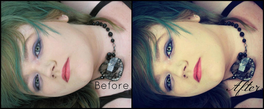 Crystal Clear. Before and After by Skysofdreams-Stock