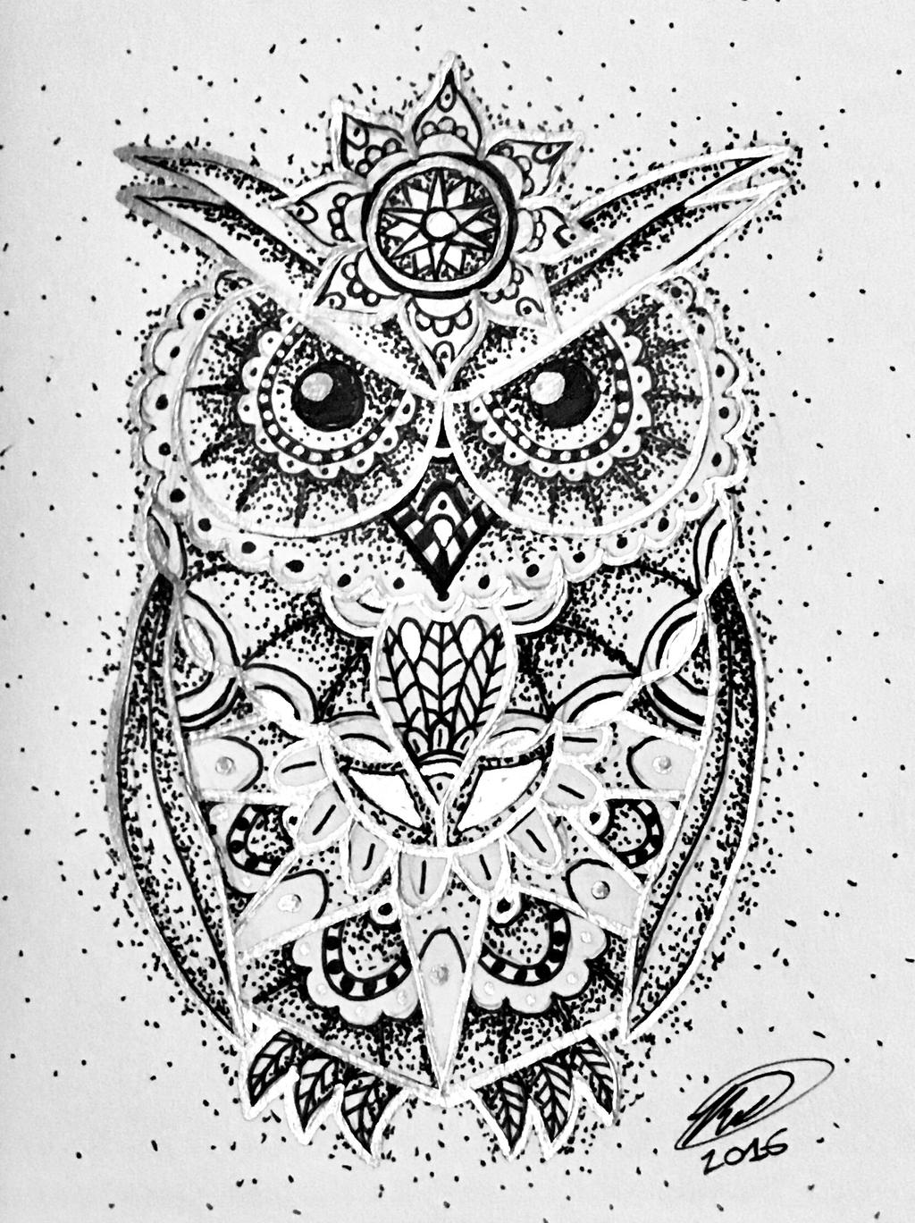 owl mandala with silver by ghostcr8zy owl mandala with silver by ghostcr8zy