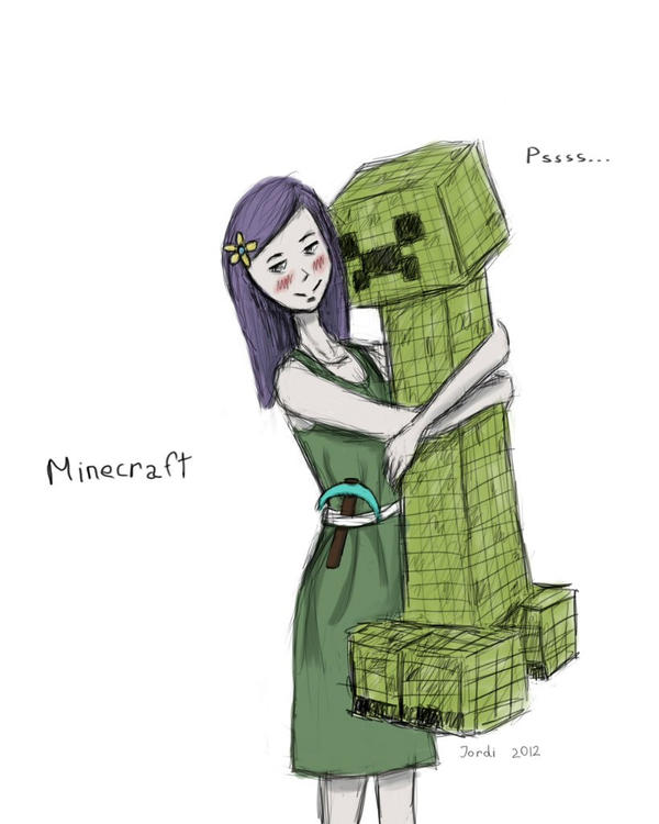 Minecraft. Creeper and me by Just-Jordi on DeviantArt