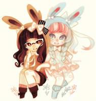 cuties x2 - commission by smhgoobi