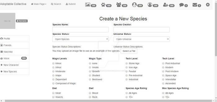 New Species part 1