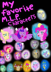 My Favorite My Little Pony Characters by great-crossover