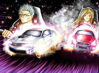 Chevrolet Camaro ZL1 vs Nissan GTR by wolyhong
