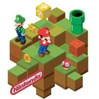 Isometric Mario Bros. by utria