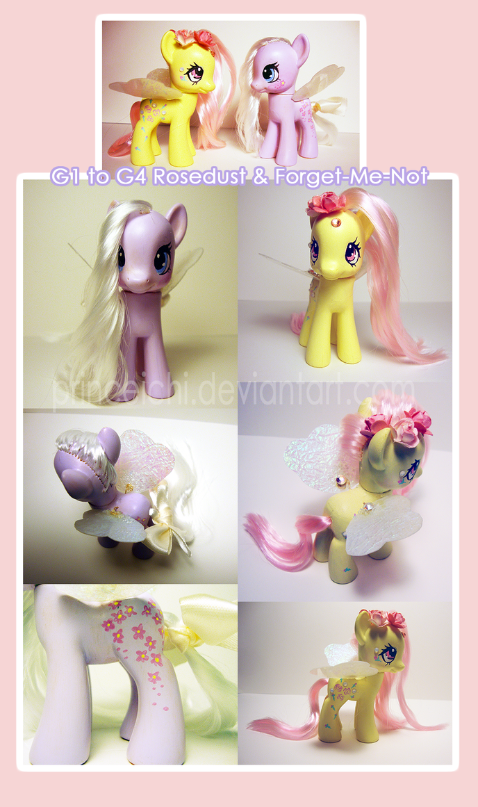 Rosedust and Forget-Me-Not G4 customs by PrinceIchi