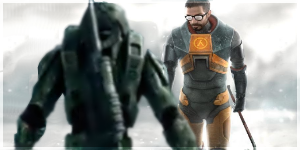 Gordon Freeman VS Master Chief by brokendrumstick1
