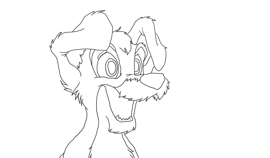 Lady And The Tramp 2 Scamp Coloring Pages