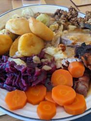 Roast Pork Christmas Dinner