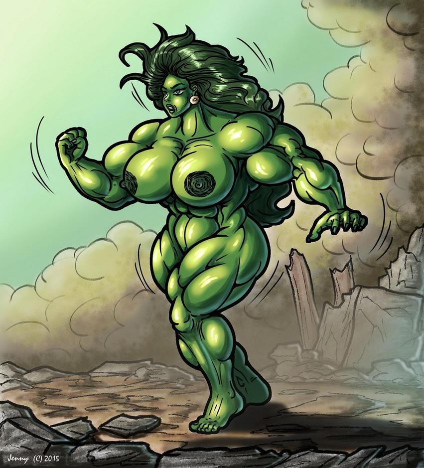 1507 She-Hulk by Jennysartwork