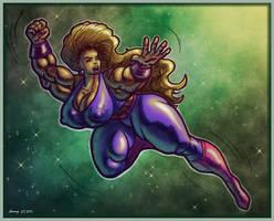 1511 Purple Superheroine by Jennysartwork