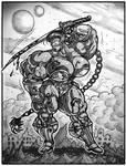 1703 Sci-Fi Warrior by Jennysartwork